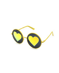 Vision of Love Reflective Heart Sunglasses (HH)