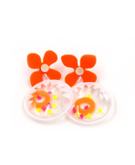 Galaxy Glow Air Pillow Earrings - Smiling Sun Spheres (004)