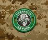 Surplus Ammo   Surplusammo.com Operator AS F*** 3D PVC Morale Patch - Starbucks Parody