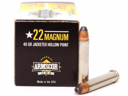 Surplusammo.com | Surplus Ammo 22 Magnum 40 Grain JHP Armscor Precision ACIP-22WMR