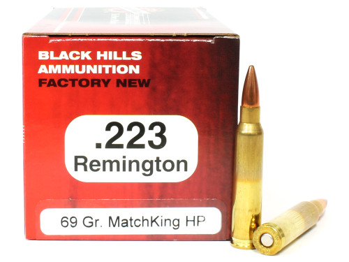 Surplus Ammo | Surplusammo.com .223 69 Grain Sierra MatchKing HP-BT Black Hills - 50 Rounds, NEW Red Box BHD223N12