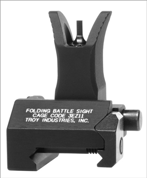 Troy Industries Folding Battle Sight - Front - M4 Style - Black
