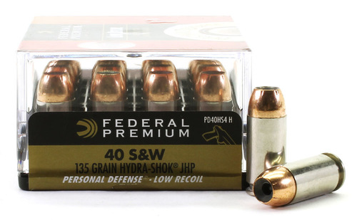 Surplus Ammo | Surplusammo.com 40 S&W 135 Grain Hydra-Shok JHP Low-Recoil Federal Premium