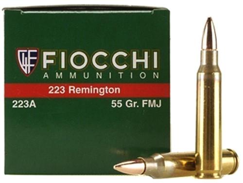 223 Rem 55 Grain FMJ Fiocchi - 50 Rounds (FO223A