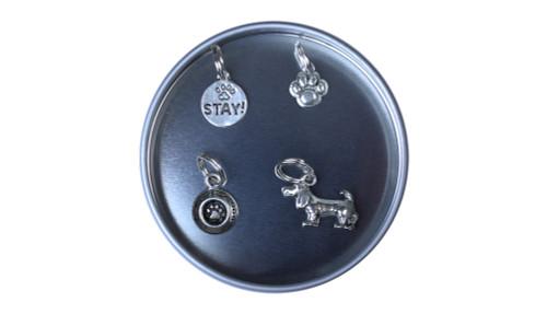 Dog Pewter Stitch Marker Set