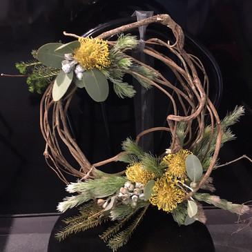 Fresh Living Wildflower Christmas Wreath