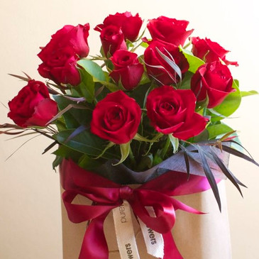 Red rose gift bag