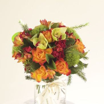 Sunset Florals in a Vase