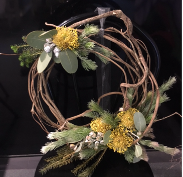 Fresh Wildflower Christmas wreath workshop