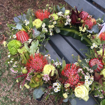 Send an Australian Native Wreath in Sydney - Funeral Flowers Sydney