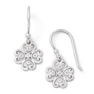 .03 ct Diamond Shepherd Hook Earrings Sterling Silver QW338