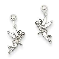 Disney Tinker Bell Dangle Post Earrings 14k White Gold WD255W
