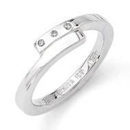 .03ct. Diamond Ring Sterling Silver QW181