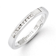 .08ct. Diamond Ring Sterling Silver QW284