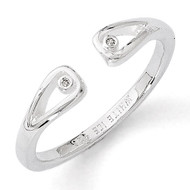 .01ct. Diamond Ring Sterling Silver QW286