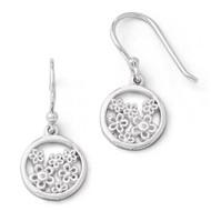 .01ct Diamond Shepherd Hook Earrings Sterling Silver QW342