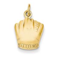Baseball Glove Charm 14k Gold C570