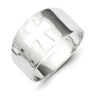 Cross Cutout Ring Sterling Silver QR1523-6