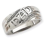 Dad Ring Mounting 14k White Gold Y6122