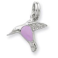 Enamel Hummingbird Charm Sterling Silver QC6252