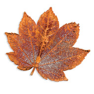 Full Moon Maple Leaf Pin Iridescent Copper Dipped BF1382