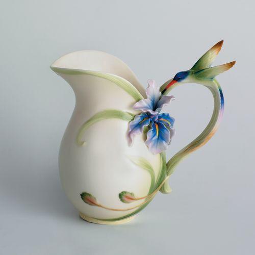Franz Porcelain Long Tail Hummingbird Pitcher Fz00712