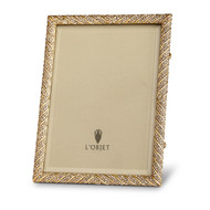 """L'Objet Deco Twist Pave 8 x 10"""" Gold with White Crystals Picture Frame, MPN: F3205L"""