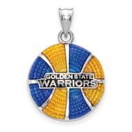 Golden State Warriors Golden State Warriors Basketball Enameled Pendant in Sterling Silver by LogoArt MPN: SS522WAR