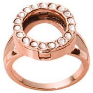 Nikki Lissoni Interchangeable Ring with Swarovski Stones Rose Gold-Plated Size 8 MPN: R1004RG8 EAN: 8718819238249