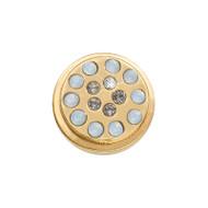 Nikki Lissoni Gold-Plated Dark Indigo & Capri Blue Coin That Fits S Rings MPN: RC2036G EAN: 8718819234364
