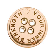 Nikki Lissoni Rose Gold-Plated Love Your Inner Strength Coin That Fits S Rings MPN: RC2038RG EAN: 8719075301777