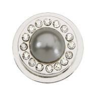 Nikki Lissoni Silver-Plated Grey Pearl Coin That Fits S Rings MPN: RC2039S EAN: 8719075302361