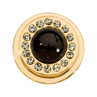 Nikki Lissoni Gold-Plated Black Pearl Coin That Fits S Rings MPN: RC2040G EAN: 8719075301401