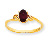 Polished Geniune Garnet Birthstone Ring 10k Gold 10XBR130