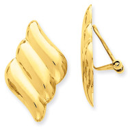 Non-pierced Fancy Earrings 14k Gold H643