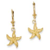 Starfish Leverback Earrings 14k Gold K4426