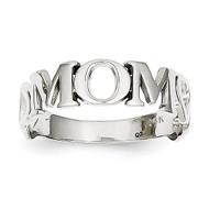 Mom Heart Ring 14k White Gold K647