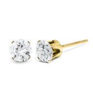 0.05ct. I2 K-L Diamond Stud Push-on Post Earrings 14k Gold ST1-5