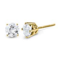 0.05ct. Diamond Stud Thread on off Post Earrings 14k Gold ST3-5