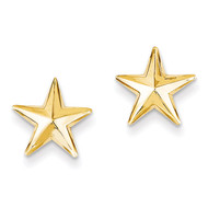 Nautical Star Post Earrings 14k Gold TE614