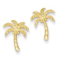 Palm Tree Post Earrings 14k Gold TM774