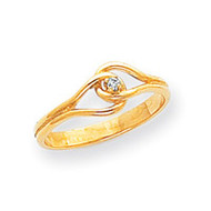 0.02ct. Diamond Fancy Ring Mounting 14k Gold Polished X5268