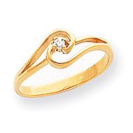 0.03ct. Diamond Ring Mounting 14k Gold Polished X9515