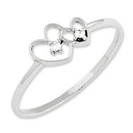 0.03ct. Diamond Fancy Ring Mounting 14k White Gold X9599
