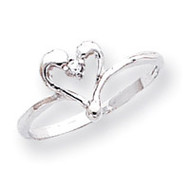0.03ct. Diamond Fancy Ring Mounting 14k White Gold X9600