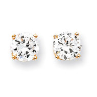 8mm Round Stud Earring Mounting with backs 14k Gold XD14