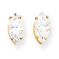 10x5mm Marquise Cubic Zirconia earring 14k Gold XE105CZ