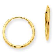 1.25mm Endless Hoop Earring 14k Gold XY1210