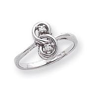 0.05ct. Diamond Ring Mounting 14k White Gold Y1664