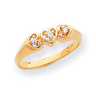 0.05ct. Diamond Heart Ring Mounting 14k Gold Polished Y1738